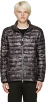 Isaora SSENSE Exclusive Grey Quilted Camo Down Jacket