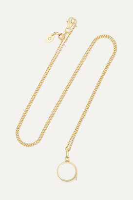 Loquet 14-karat Gold And Sapphire Crystal Locket Necklace - one size