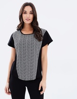 Privilege Extended Shoulder Top