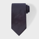 Paul Smith Men's Navy Pin Dot Silk Tie With 'Naked Lady' Lining