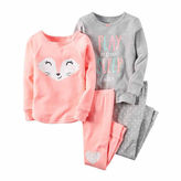 Carter's 4-pc. Fox Pajama Set - Baby Girls newborn-24m