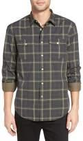 John Varvatos Plaid Long Sleeve Trim Fit Shirt