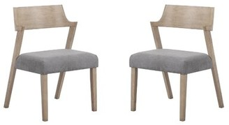 Ivy Bronx Munro Curved Back Dining Chairs Grey Oak (Set Of 2