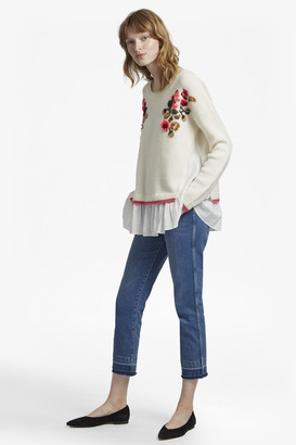 French Connection Vienna Knit Embroidered Jumper