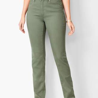 Talbots High-Waist Straight-Leg Jeans - Curvy Fit - Summer Sage