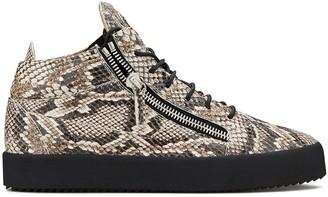Giuseppe Zanotti Snake Print Sneakers