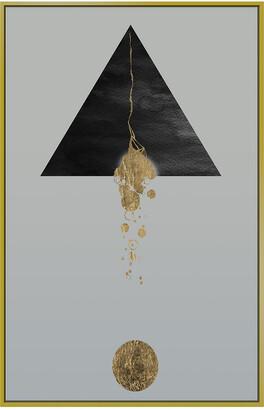 Jonathan Bass Studio Golden Shape Ii Gold Leaf