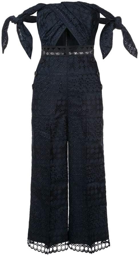 Self-Portrait lace-embroidered jumpsuit