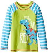 Hatley Roaring T-Rex Rashguard Boy's Swimwear