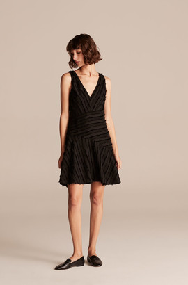 Rebecca Taylor Eyelash Stripe Short Dress