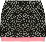 Diane von Furstenberg Elley cotton-blend lace skirt