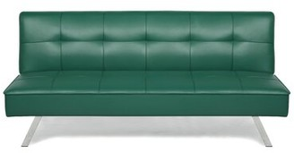 "Serta 66.1"" Wide Armless Convertible Sofa Fabric: Green"