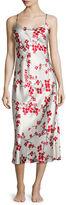 Natori Cherry Blossom Long Satin Gown