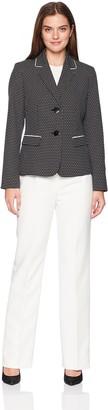 Le Suit LeSuit Women's Novelty DOT 2 Bttn Notch Lapel Pant SUI