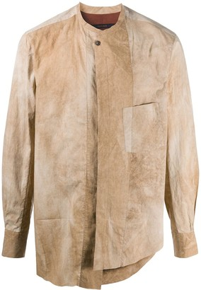 Ziggy Chen Asymmetric Light-Wash Shirt