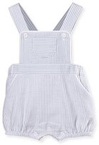 Patachou Striped Cross-Back Overalls, Gray/White, Size 3-12 Months