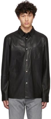 HUGO Black Leather Lorean Shirt
