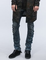 11 By Boris Bidjan Saberi Destroyed Denim Washed Jeans