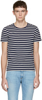 Marc Jacobs Navy Striped T-shirt