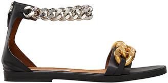 Stella McCartney Falabella Ankle-Chain Flat Sandals