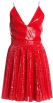MSGM Pleated Sequin Flare Dress