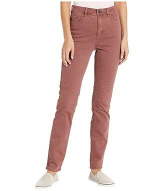 FDJ French Dressing Jeans Jeans Solid Cool Twill Suzanne Straight Leg in Rosewood (Rosewood) Women's Jeans