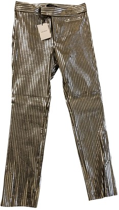 Isabel Marant Metallic Leather Trousers