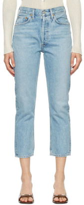 AGOLDE Blue Riley Straight Crop Jeans