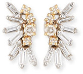 Suzanne Kalan Round & Baguette Diamonds Cluster Earrings