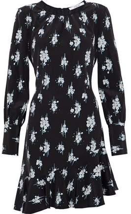 Derek Lam 10 Crosby Printed Silk Crepe De Chine Mini Dress