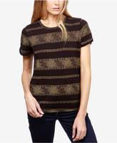 Lucky Brand Metallic-Stripe T-Shirt