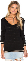 Michael Stars Reversible Double Layer V Neck Sweater