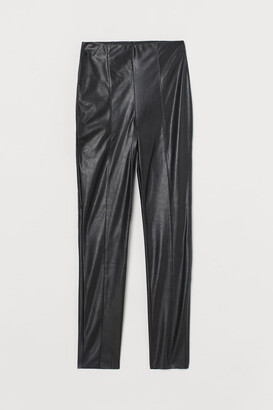 H&M Crease-front Leggings - Black