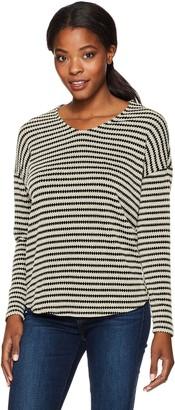 Tribal Women's L/s Knit Jacquard Stripe Top
