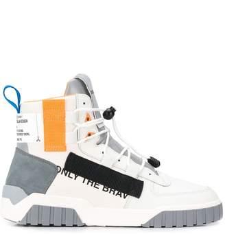 Diesel colour-block high top sneakers