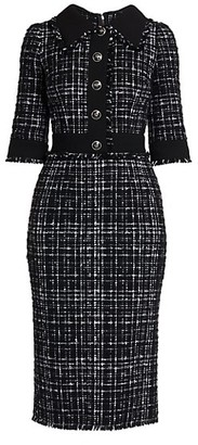 Dolce & Gabbana Tweed Pencil Dress