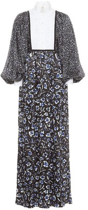 Tory Burch Floral stretch-silk maxi dress