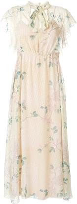 RED Valentino polka dot floral dress