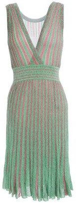 Missoni Wrap-effect Metallic Crochet-knit Dress