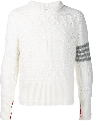 Thom Browne Textured Knitted Jumper