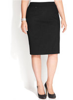 Calvin Klein Plus Size Skirt, Coin Pocket Suiting
