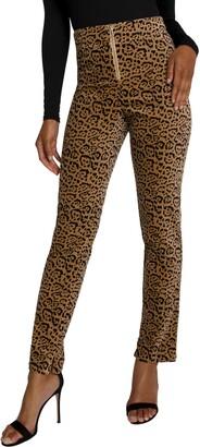 Good American Leopard Suit Pants