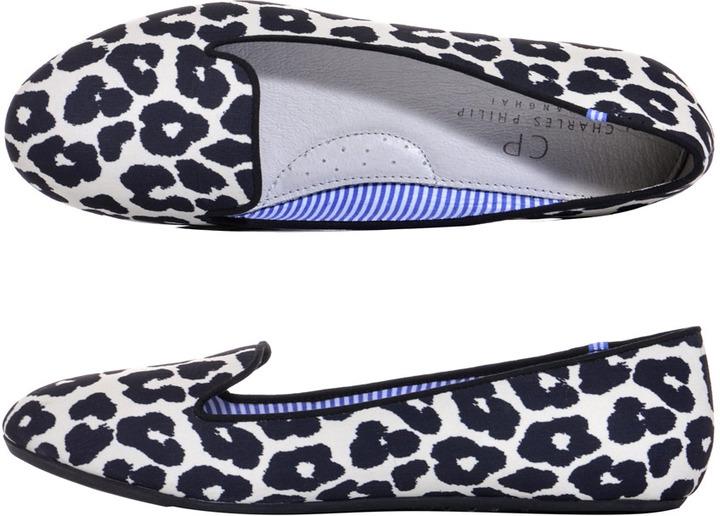 Charles Philip Shanghai Sheila animal-print slippers