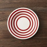 Crate & Barrel Red-Striped Plate