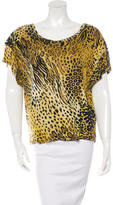 Torn By Ronny Kobo Animal Print Short Sleeve Top