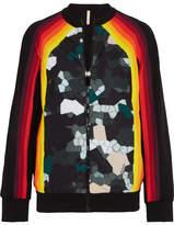 NO KA 'OI No Ka'Oi Nalani Printed Stretch Jacket - Black
