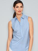 Talbots The Perfect Wrinkle-Resistant Popover Shirt-Coastline Stripes