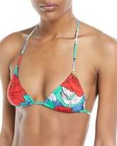 Diane von Furstenberg Sliding String Halter Triangle Bikini Top