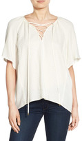 Ella Moss Stella Lace-Up Blouse