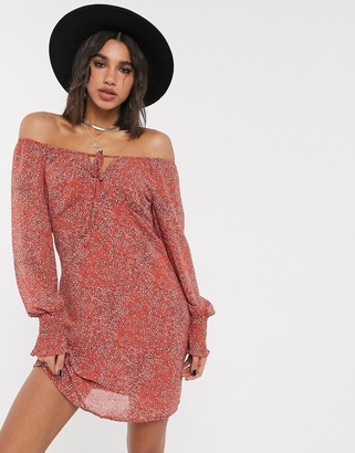 Only mini dress in ditsy print